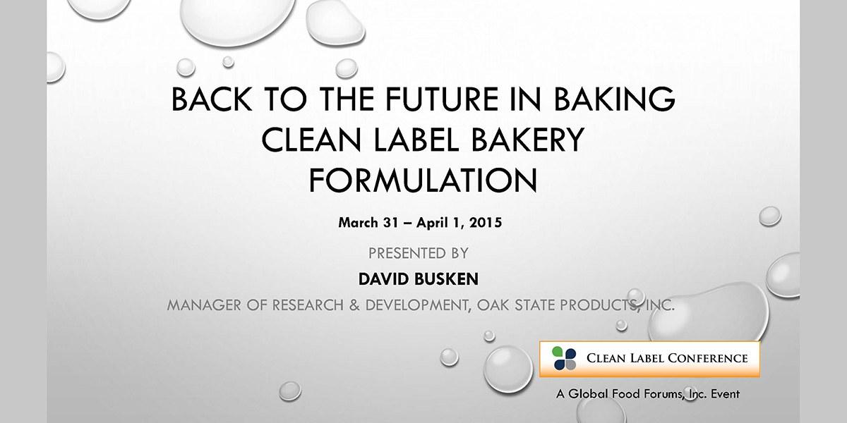 David Busken Clean Label Baking 2015 CLC