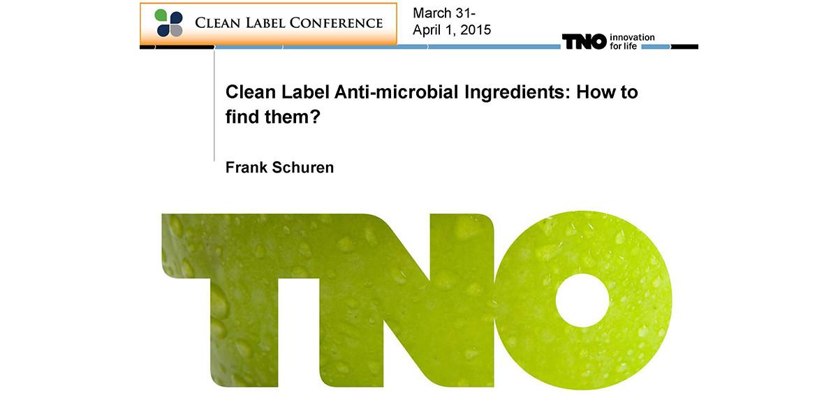 Frank Schuren Finding Clean Label Antimicrobials 2015 CLC