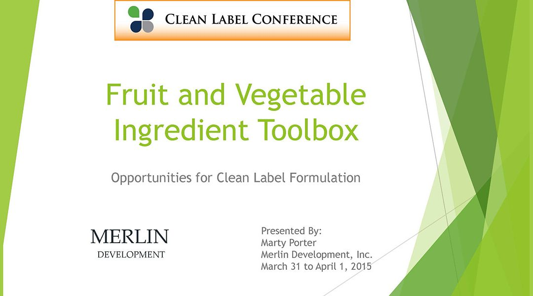 Fruit & Vegetable Ingredient Toolbox Presentation