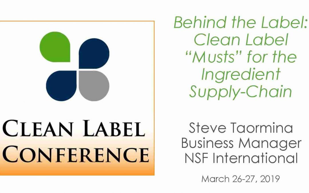 Clean Label Ingredient Supply Chain Presentation