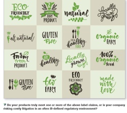 Image of claims important to consumers seeking clean label. These claims include eco-friendly, natural, organic & healthy.