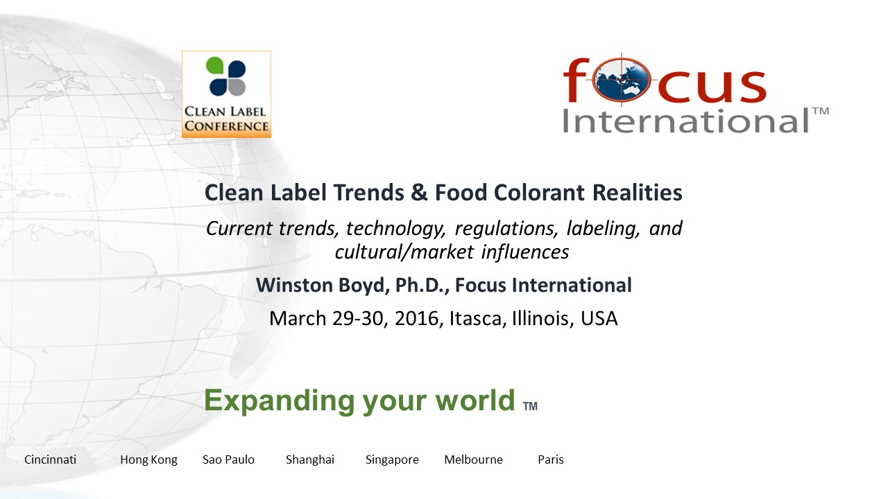 Clean Label Colorant Trends and Technical Advice by Winston-Boyd-2016-CLC