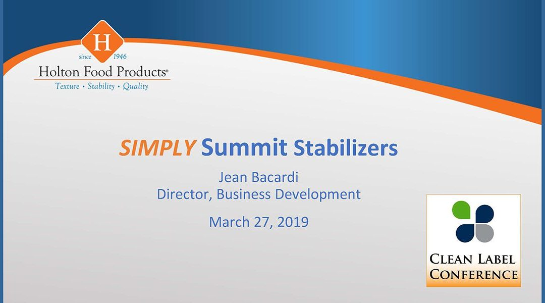 Holton Food Products Summit Stabilizers