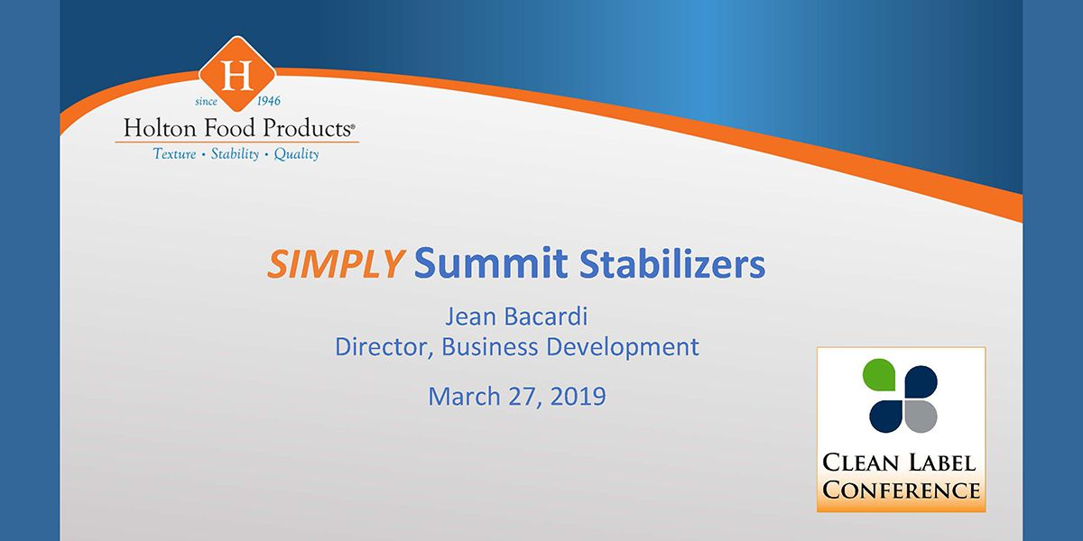 2019 TSS HOLTON FOOD PRODUCTS SUMMIT STABILIZER