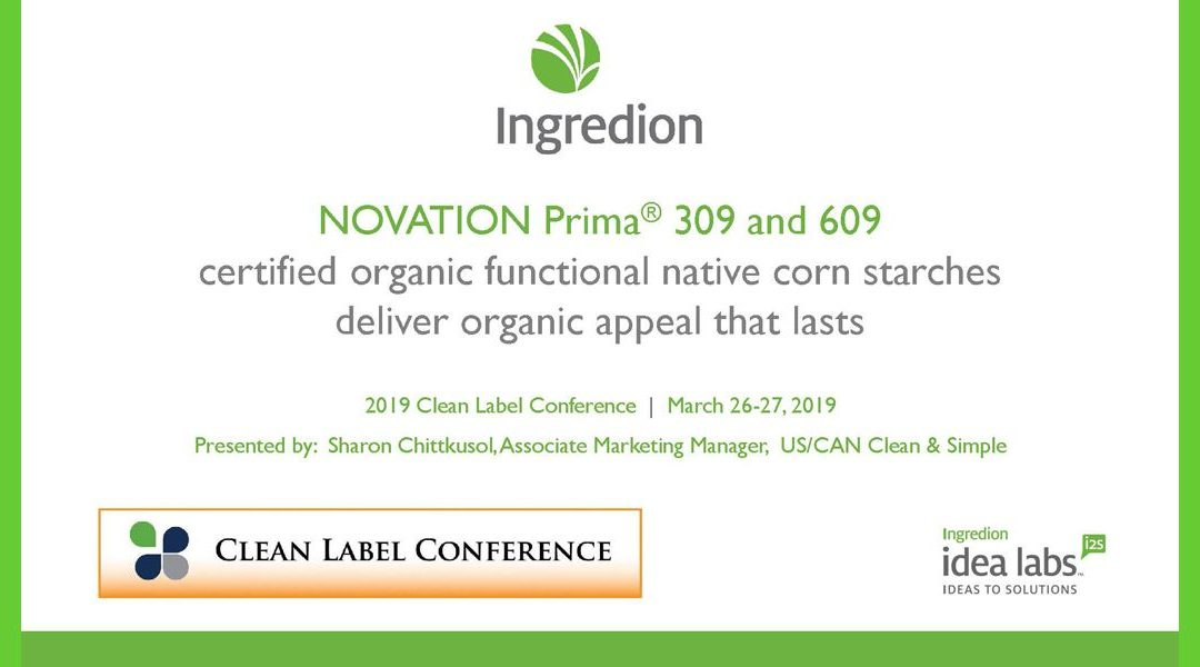 Ingredion NOVATION Prima Functional Native Corn Starches