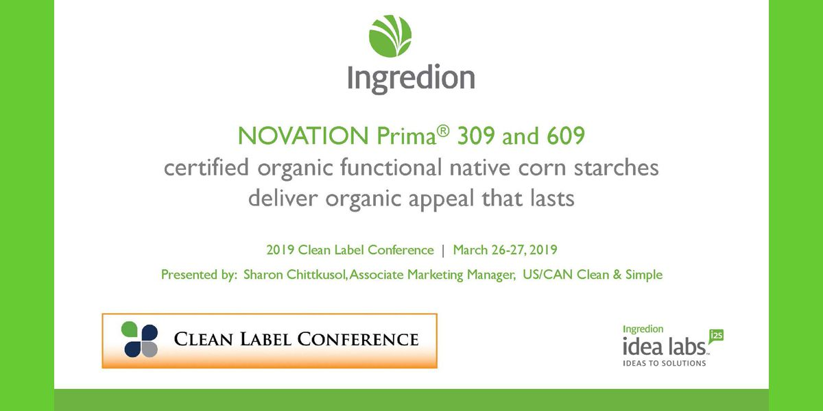 2019 TSS INGREDION NOVATION PRIMA functional native corn starches