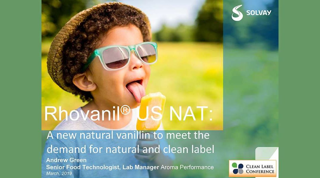 Solvay Rhovanil Nat Vanillin Replacement