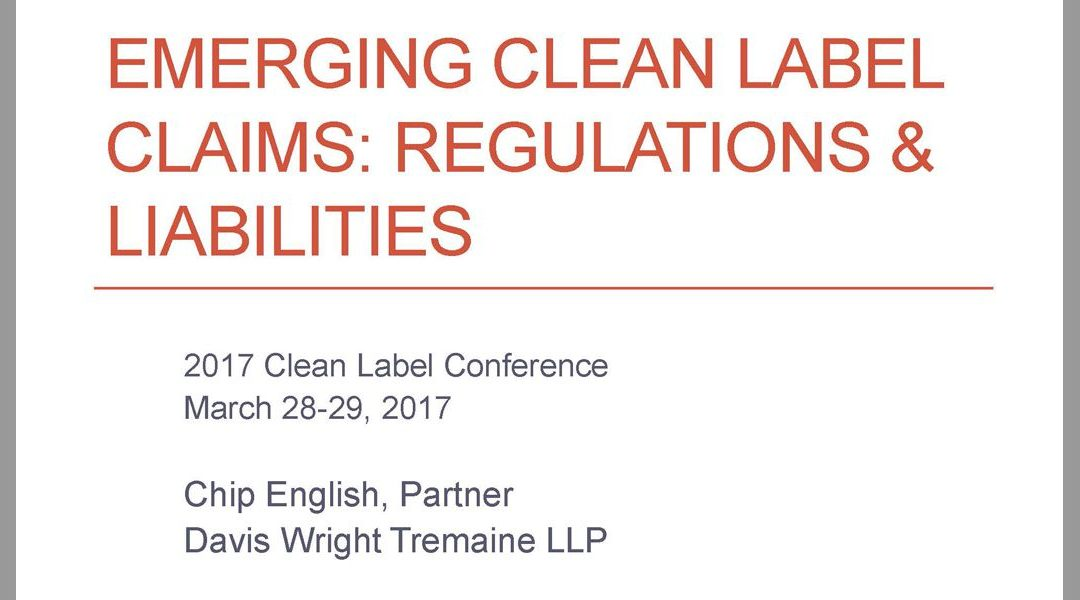 Clean Label Regulations Presentation