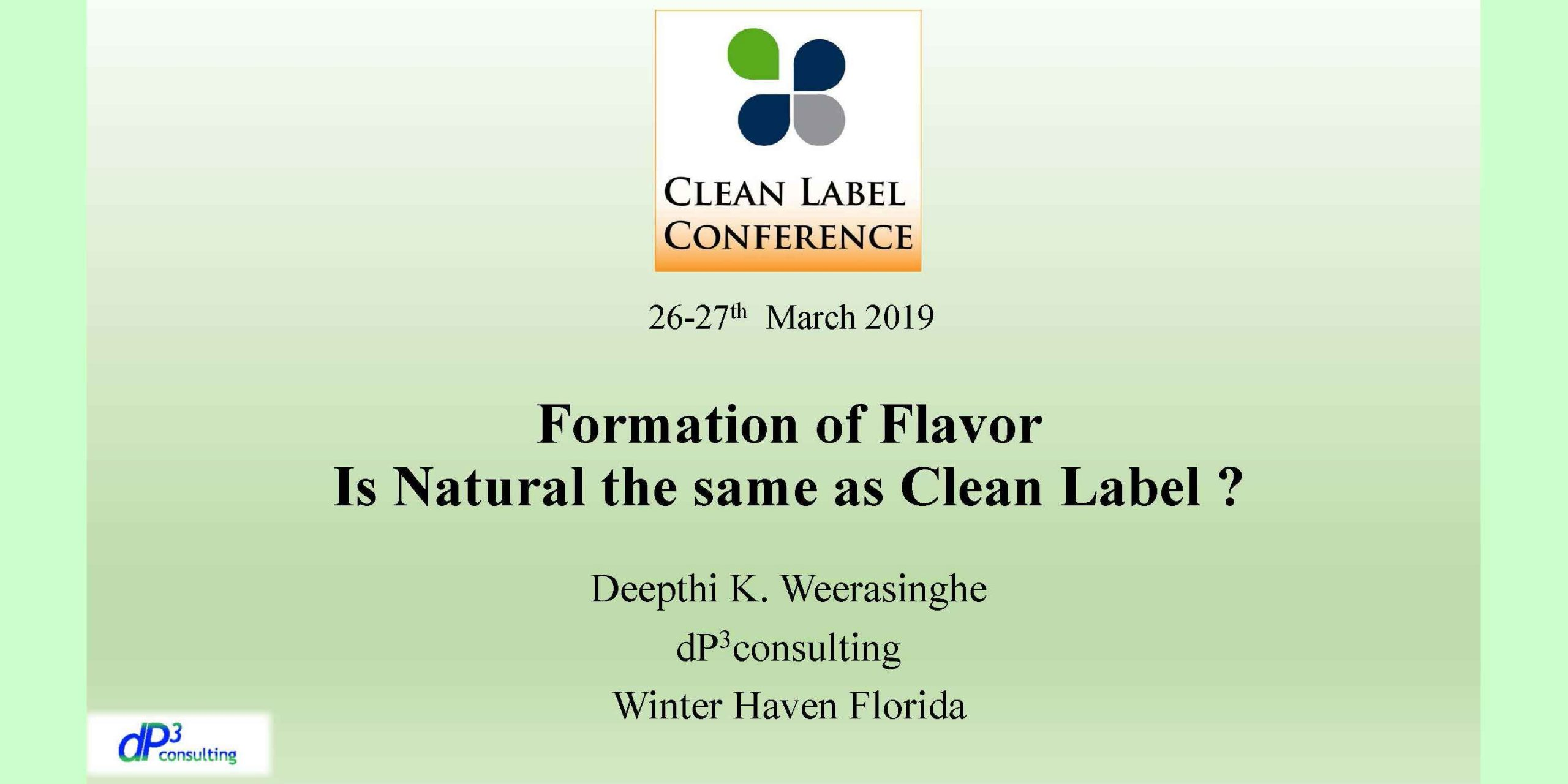 DEEPTHI WEERASINGHE NATURAL CLEAN LABEL FLAVORS 2019 CLC