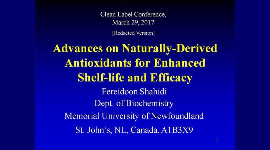 Natural Antioxidants Presentation
