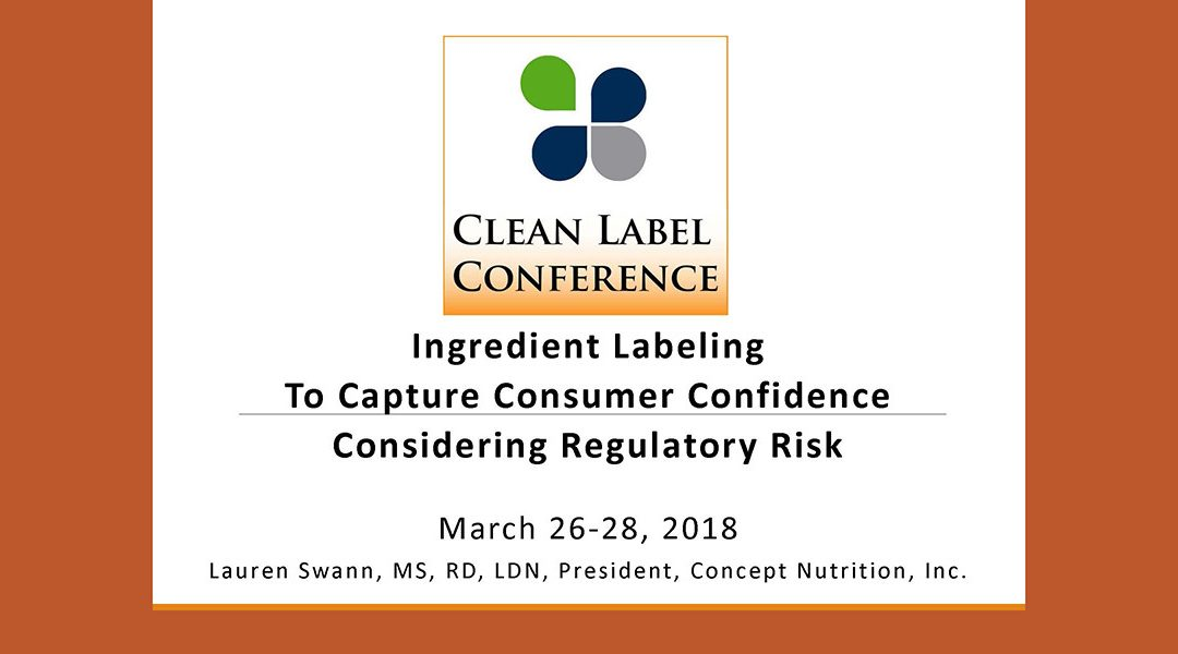 Ingredient Labeling Presentation