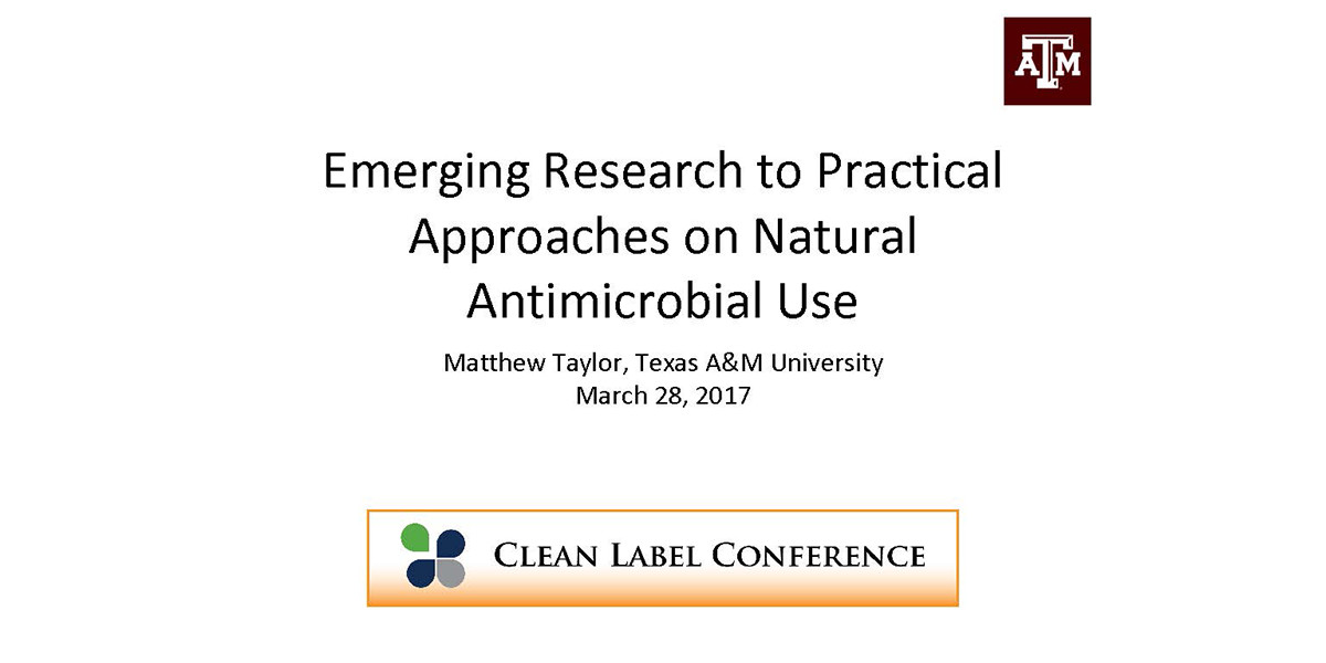 MATTHEW TAYLOR EMERGING NATURAL ANTIMICROBIAL RESEARCH 2017 CLC