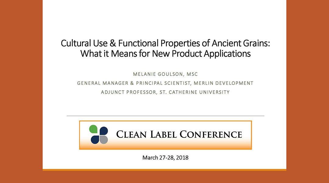 Ancient Grains New Applications Presentation