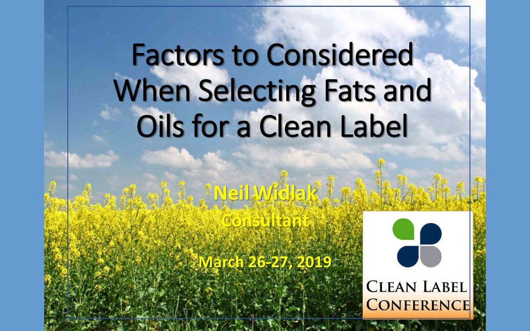 Clean Label Fats and Oils Presentation