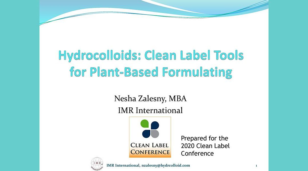 Hydrocolloids for Clean Label Plant-Based Products