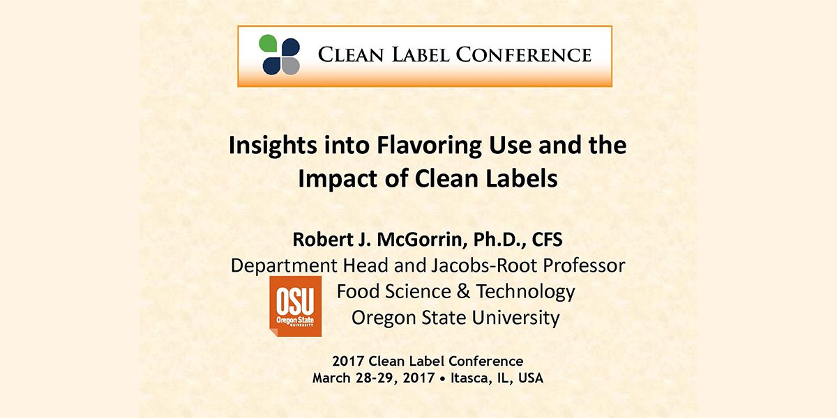 ROBERT MCGORRIN FLAVOR USE AND CLEAN LABELS 2017 CLC