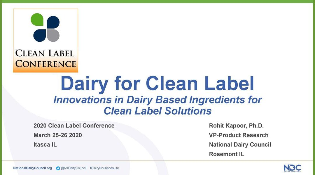 Dairy for Clean Label