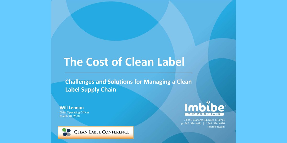 WILL LENNON COST OF CLEAN LABELS 2018 CLC