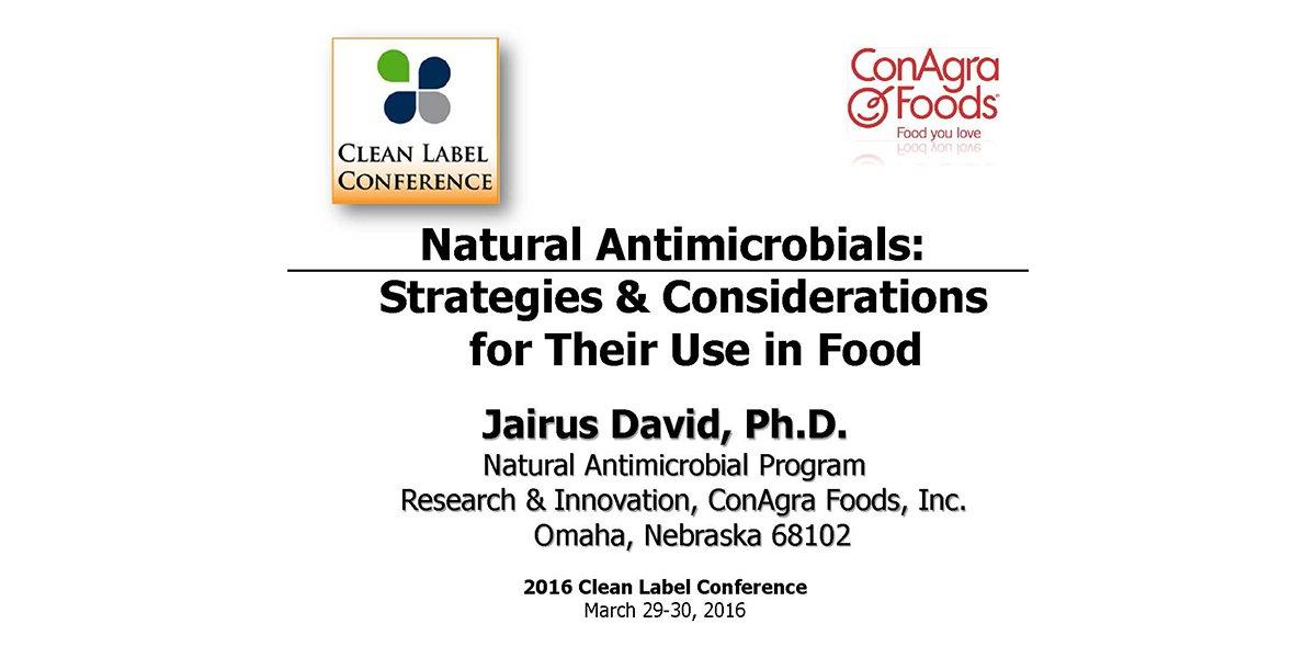 JAIRUS DAVID NATURAL ANTIMICROBIALS STRATEGIES 2016 CLC