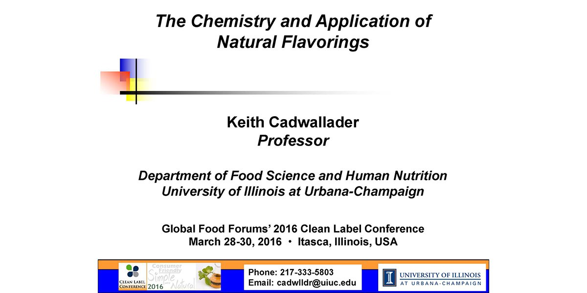KEITH CADWALLADER NATURAL FLAVORS CHEMISTRY APPLICATIONS 2016 CLC