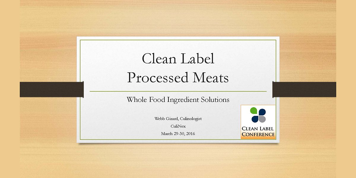 WEBB GIRARD CLEAN LABEL PROCESSED MEATS 2016 CLC