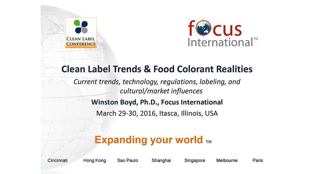Clean Label Food Colorants Presentation