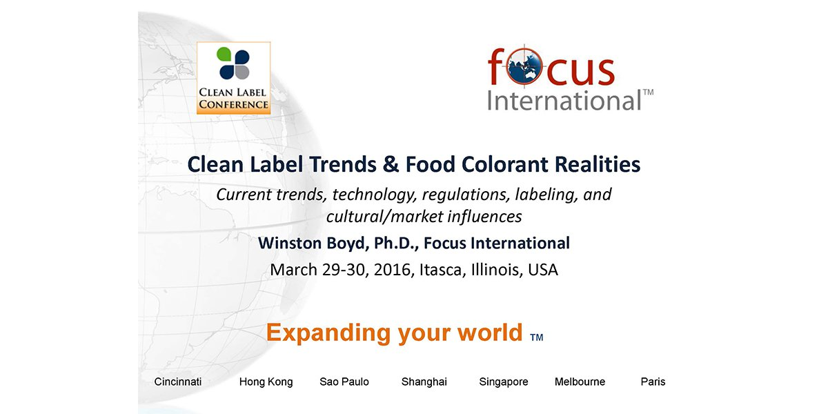 WINSTON BOYD CLEAN LABEL FOOD COLORANTS 2016 CLC