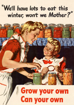 Canning was an important advance in food preservation.