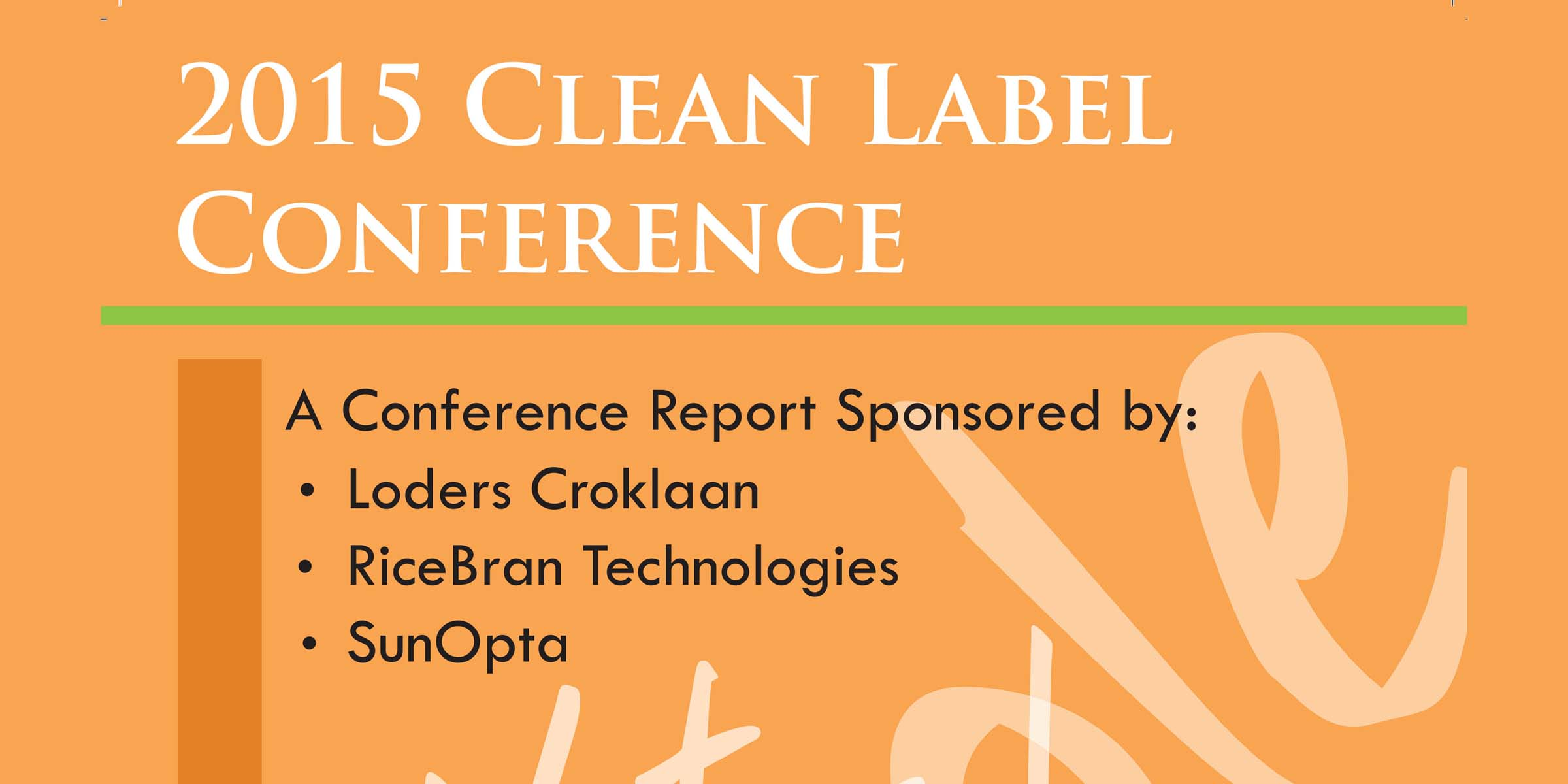 2015 CLEAN label post conference magazine FEATURE
