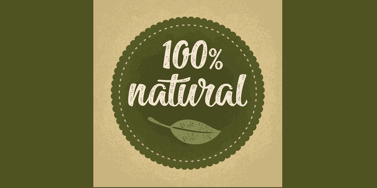 100 natural lettering with leaf. Vector dark green vintage illustration