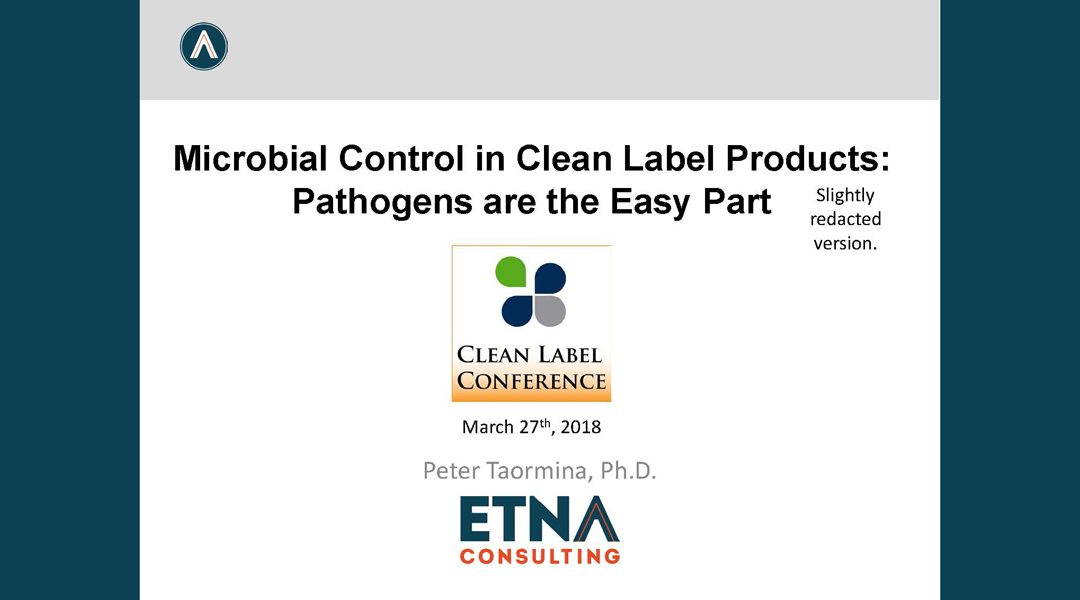 Microbial Control in Clean Label Products Presentation