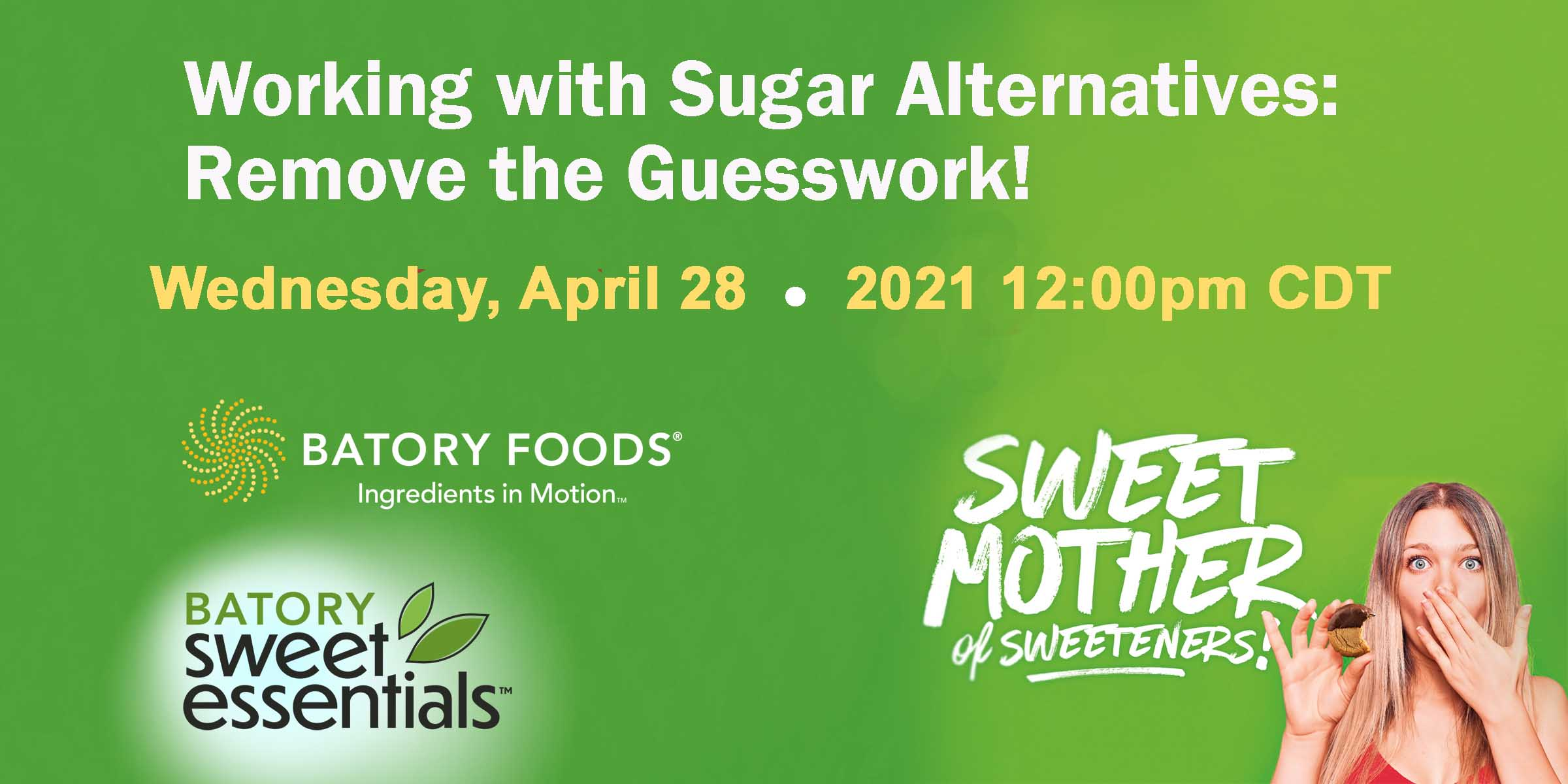 Batory Foods webinar on sweeteners