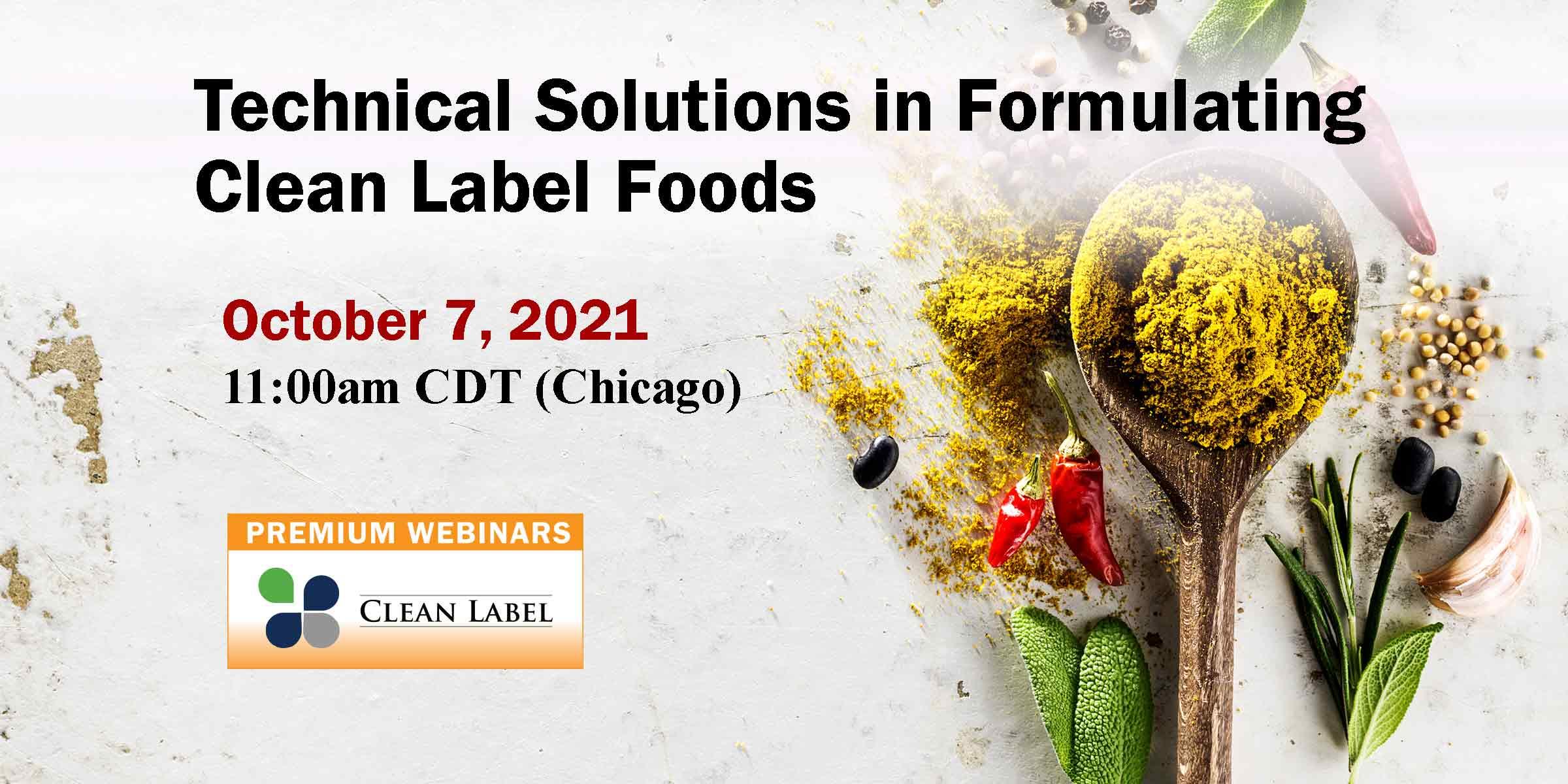 2021 Clean Label Premium Webinar
