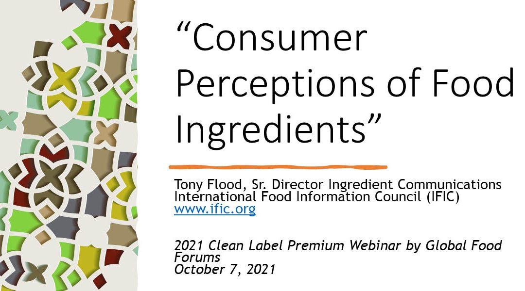 Consumer Attitudes Towards Food Ingredients [Presentation]