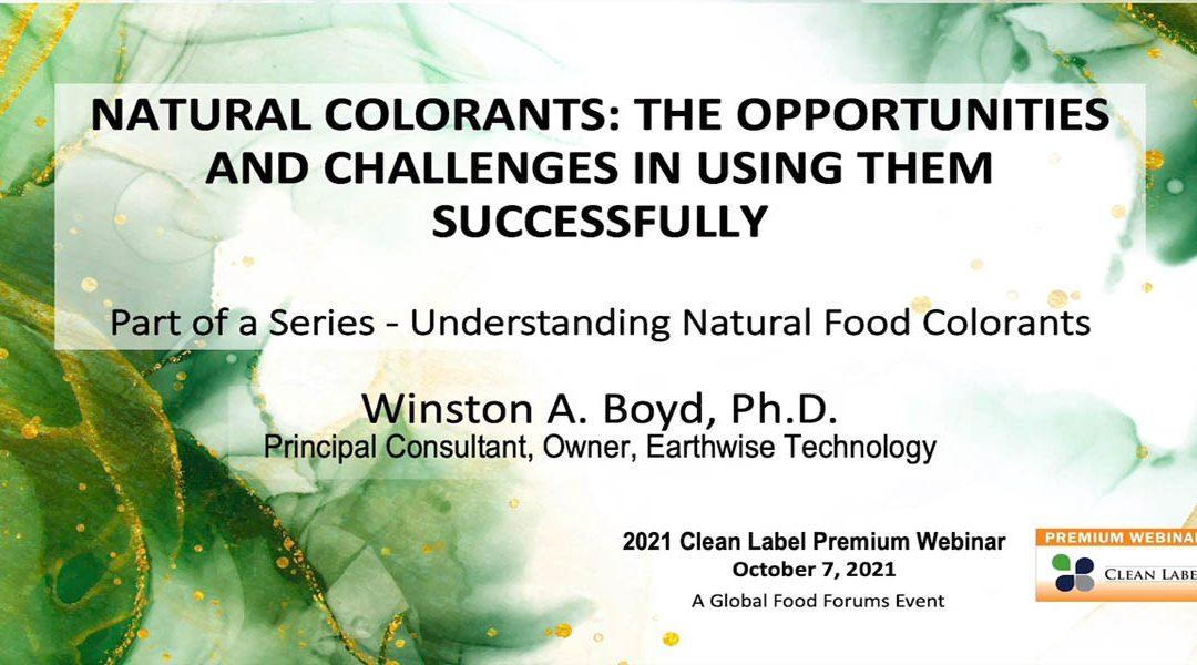Using Natural Colorants Successfully [Presentation]